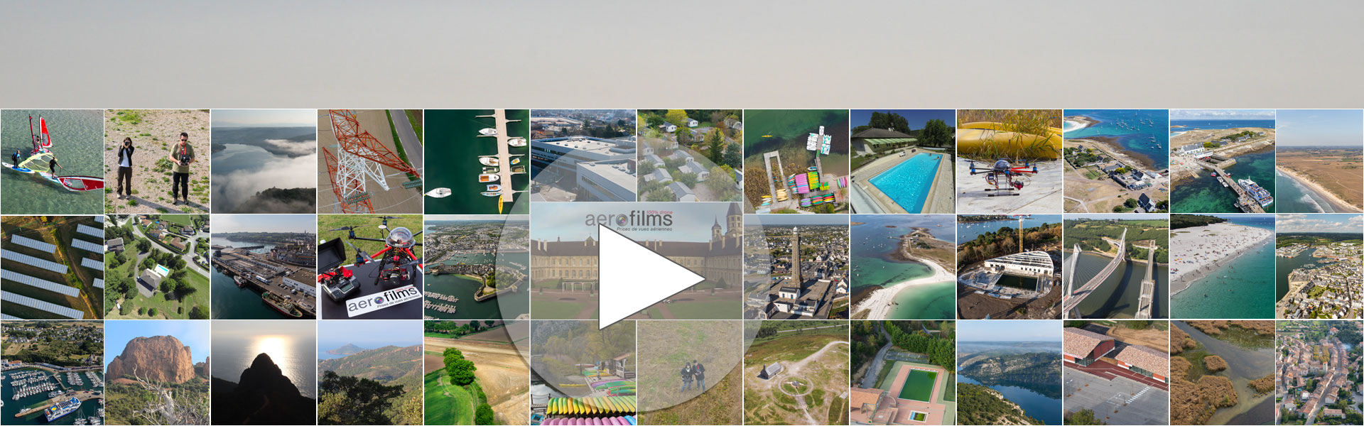 Prestations de prises de vues aériennes par drones